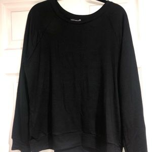 Black pullover sweater. Lightweight material.